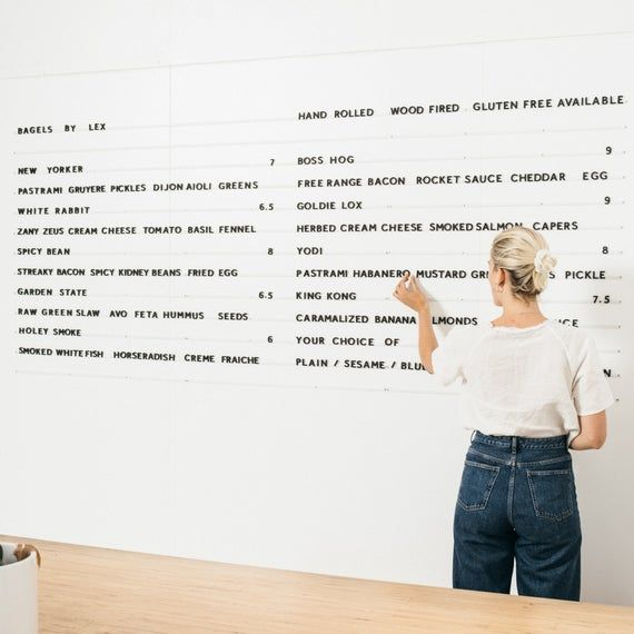 Magnetic Letter Board Cafe Menu Board Baker Menu Magnet Etsy In 2020 Cafe Menu Boards Bakers Menu Cafe Menu
