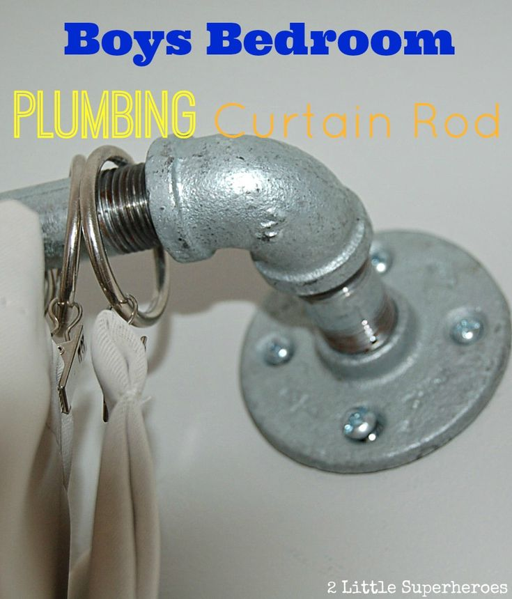 Galvanized Pipe Curtain Rod Tutorial Sturdy Solution For Boys Bedroom And A Cheaper