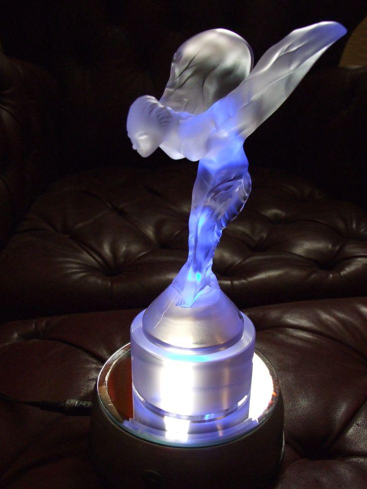 Rolls-Royce glass desk ornament - trophy by Chrystal Lalique