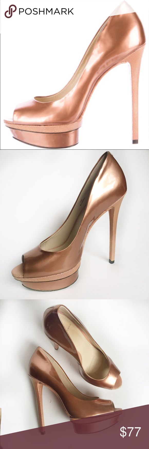 Brian Atwood  metallic pumps Condition: used without box Size: 7  Color: rose gold metallic  Brand: Brian Atwood ..   Tags for search : heels, pumps, pink pumps, rose metallic heels, rose metallic pumps, Brian Atwood metallic pumps heels, Brian Atwood pumps, Brian Atwood heels, Brian Atwood shoes, rose gold pumps, rose metallic pumps Brian Atwood Shoes Platforms