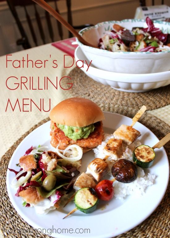 menu for father's day bbq