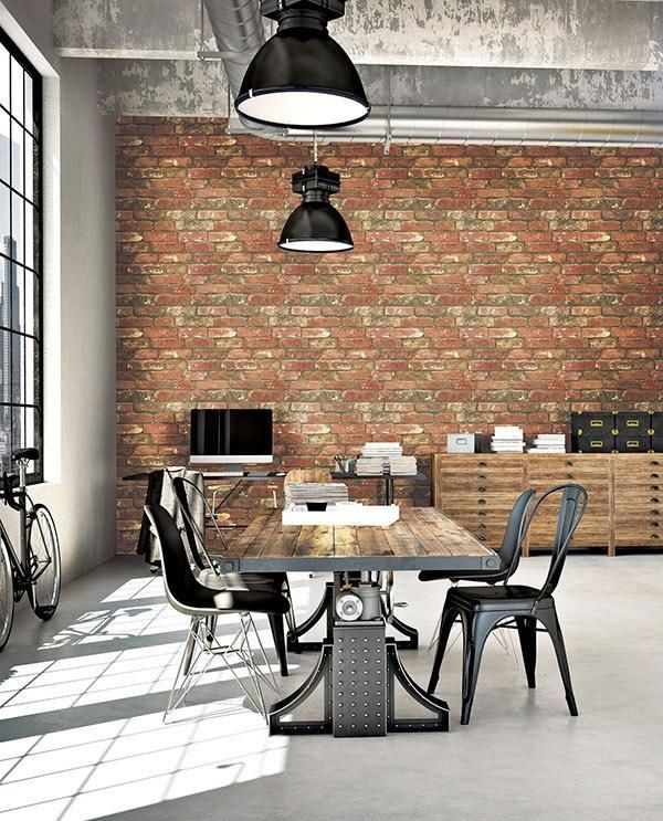 West End Brick Peel And Stick Wallpaper In 2020 Brick Feature Wall Brick Cladding Feature Wall Design