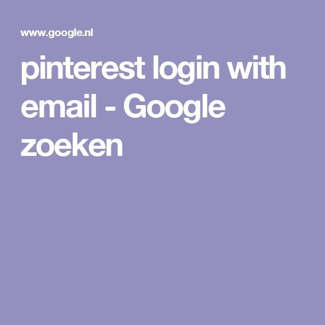 pinterest login with email - Google zoeken