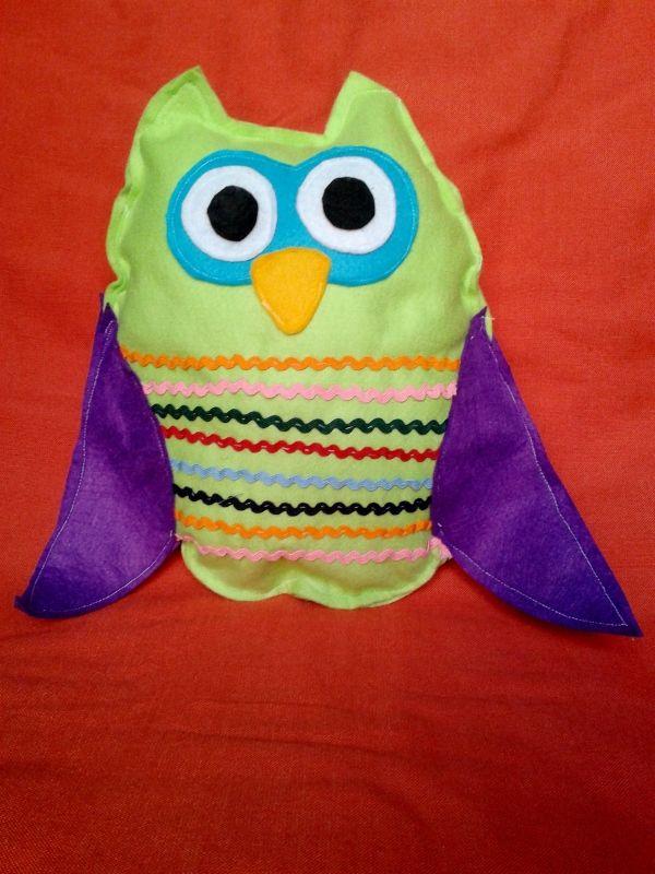Handmade owl pillow. It's made by felt