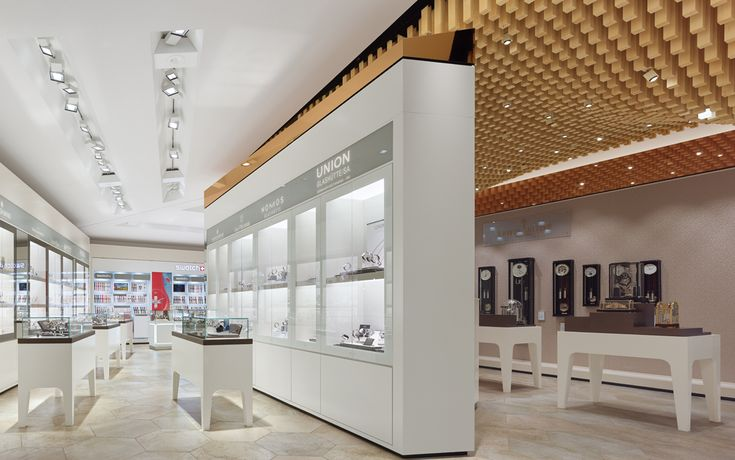 LitePads Provide Toplighting For Top-End Brands - The design team for Drubba Moments, an upscale timepiece boutique located in Germany's Black Forest, installed Rosco Custom LitePads in the ceiling of their display cabinets to illuminate the high-end watch brands inside.