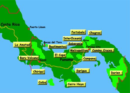 National Parks in Panama