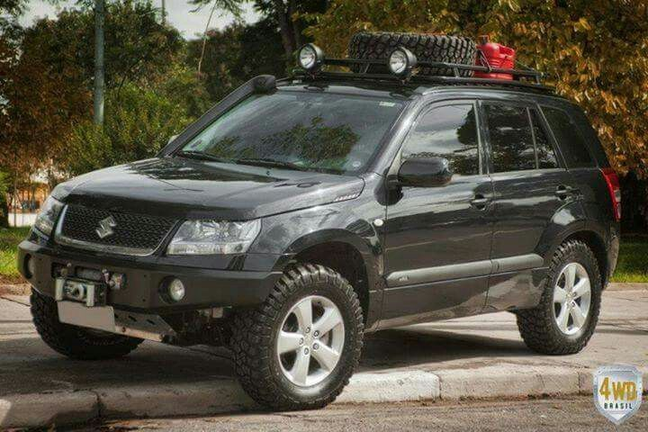 Grand vitara. Spare tyre in the cargo holder so that I can use a towball bike…