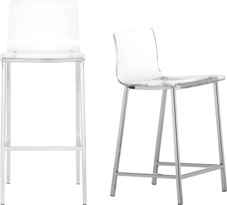 vapor barstools. These barstools have a clear acrylic seat. Would work for the bar area. $189-199