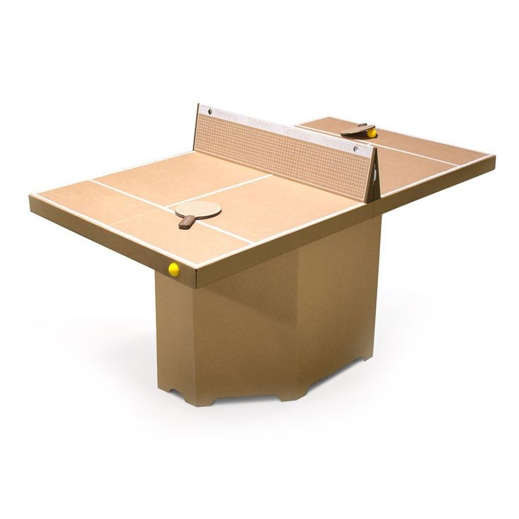 Table de ping-pong en carton