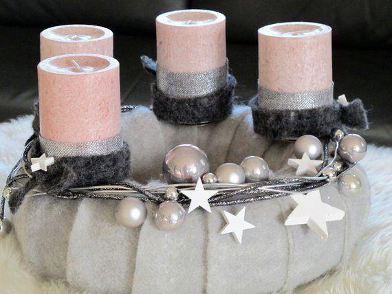 Adventskranz Sternenstaub Weihnachtskranz Modern Pillar Candles Candles Candle Holders