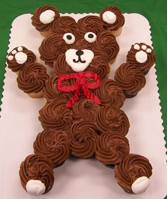 """This site has pictures of cute cupcake """"cake"""" ideas"""