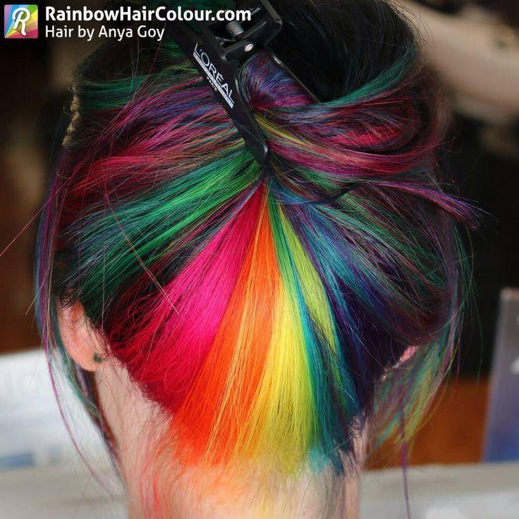 Hair by Anya Goy www.rainbowhaircolour.com