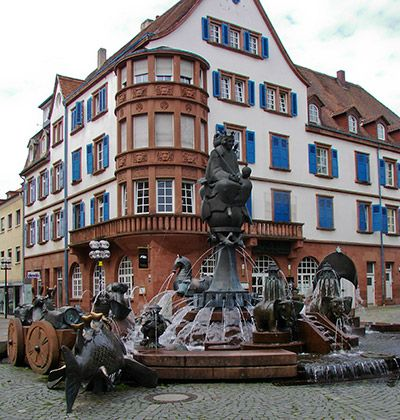 kaiserslautern, germany town square. Moved here after three months in BK.