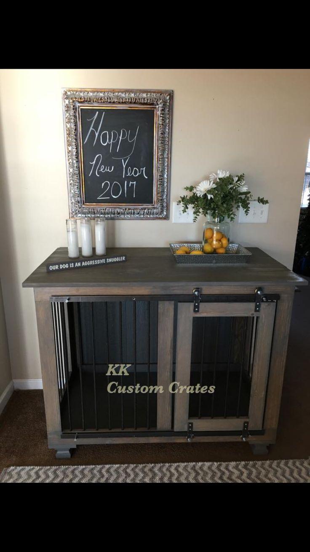 Delightful KK Custom Crate Charlotte NC #dodcrate #dogcratefurniture