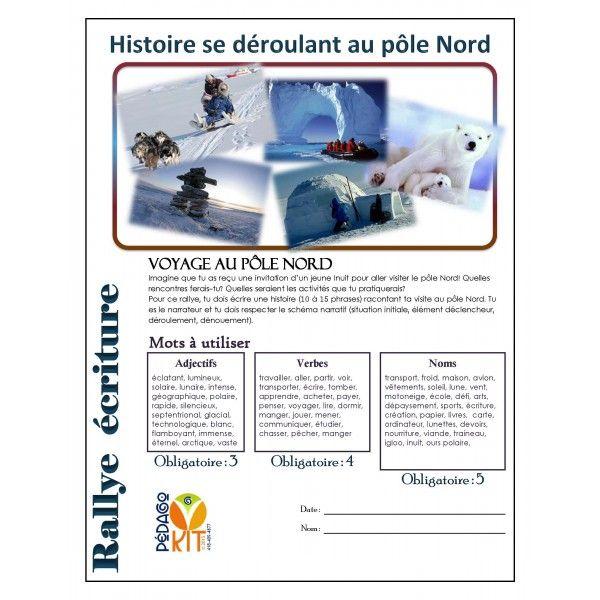 Français Rallye écriture pôle Nord (narratif)