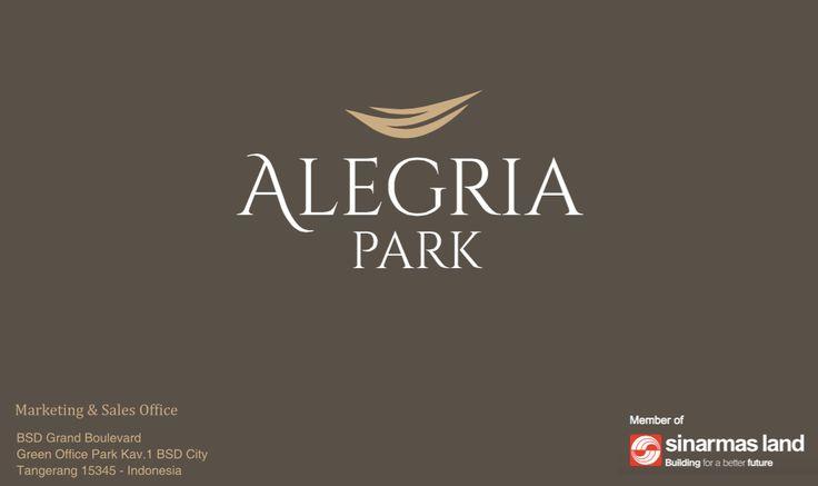 Brosur Cluster Alegria Park BSD #sinarmasland #clusterbarubsd #clusterbsd2017