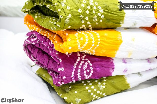 Dupattas, Sarees & more at #SANKALP - The Bandhej Shoppe..  #clothing #saree #dupatta #bandhani #cityshorahmedabad