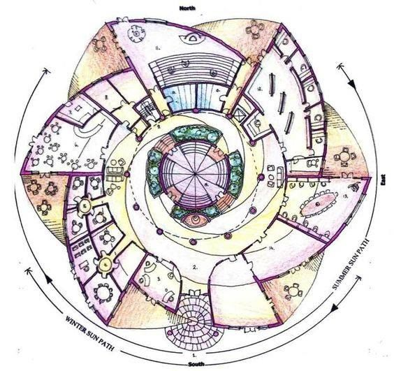 74 best circular plans images on pinterest round house for Types of building plans