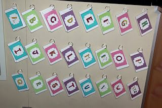 portable word wall--students can pick a pack of words to practice at home, in line for the restroom, etc.