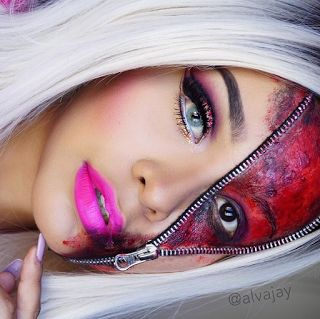 BLUSHO blog: Halloween Makeup - Zipper Face Tutorial