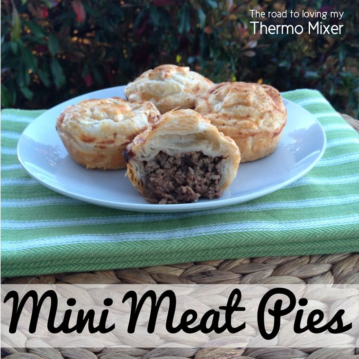 Mini beef pies - great for parties