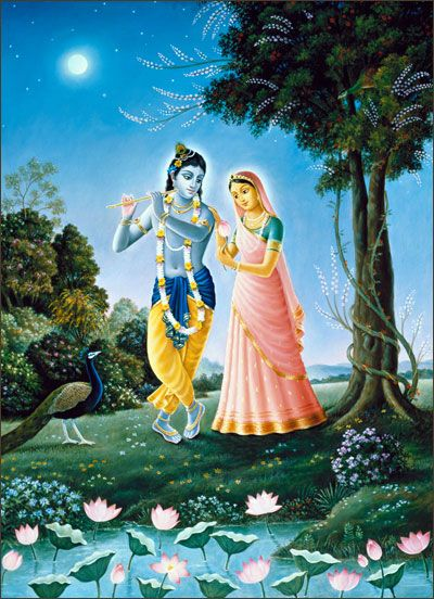 In Vṛndāvana the autumn season was very beautiful then because of the presence of the Supreme Personality of Godhead, Kṛṣṇa and Balarāma. The mercantile community, the royal order and great sages were free to move to achieve their desired benedictions. Similarly, the transcendentalists, when freed from the encagement of the material body, also achieve their desired goal.