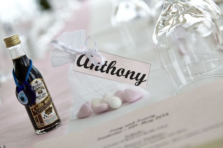 Give traditional favors for a true Greek feel