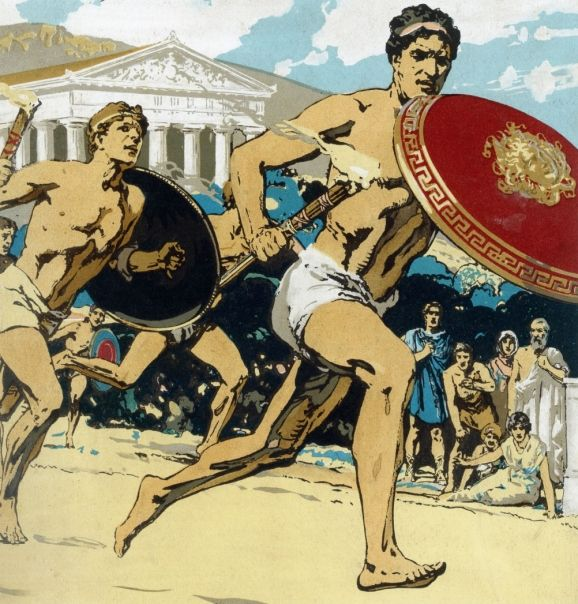 Today's modern Olympics are actually based on the Ancient Olympic games that got their start in Ancient Greece.