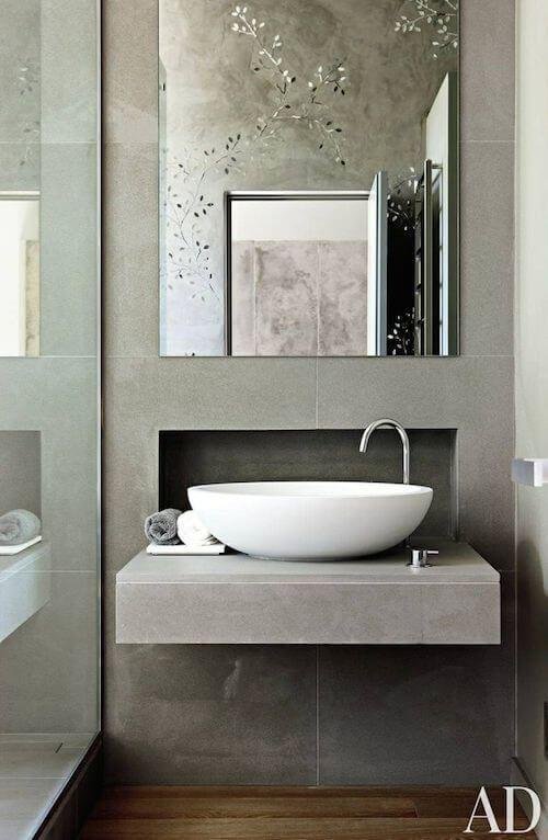 Kleine badkamer- wasbak