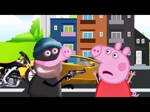 Peppa pig en español policia, el robo del lamborghini   episodio 1