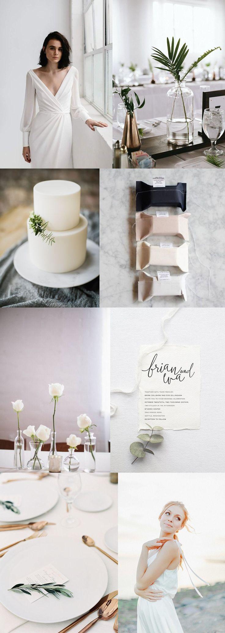 Minimalistisch heiraten: ein Konzept   – Minimalistic Wedding