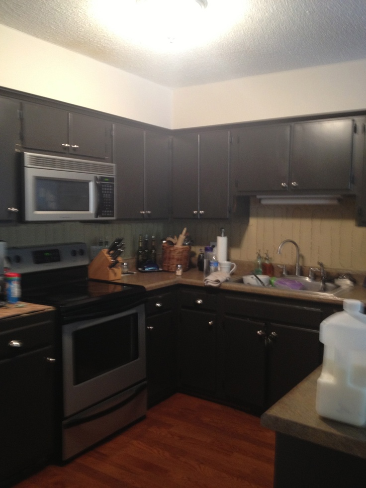 Annie sloan kitchen cabinet makeover before house before after pinterest - Annie sloan kitchen cabinets before and after ...
