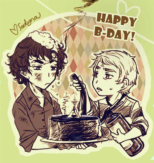 Шерлок с днем рождения картинки