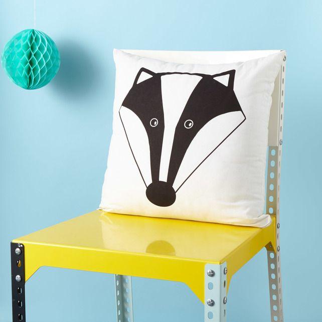 Mr Badger Screen Printed Cushion - Badger Cushion £15.00