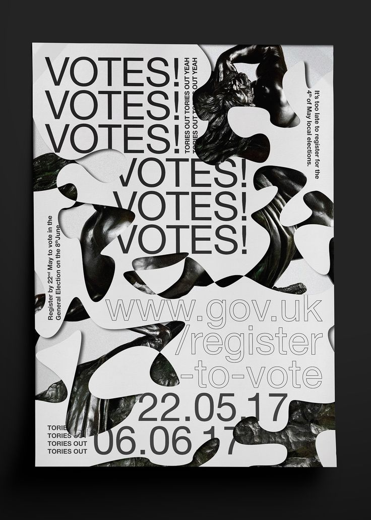 Register to Vote - UK Election 2017 on Behance