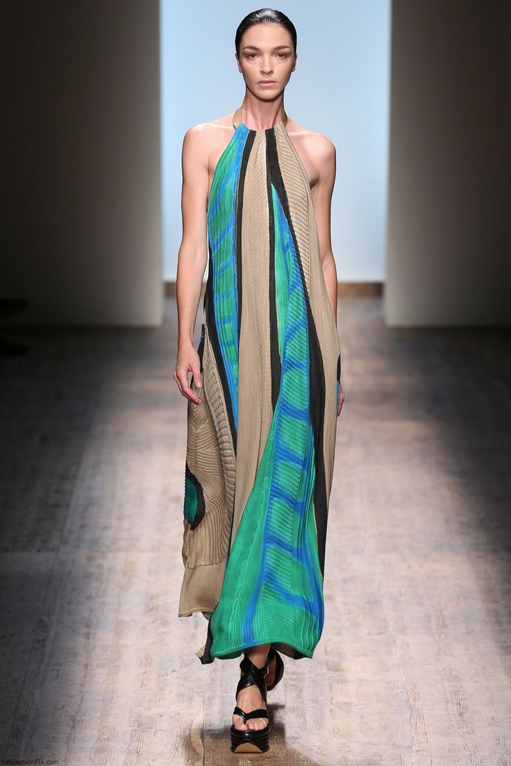 Mariacarla Boscono for Salvatore Ferragamo spring/summer 2015 collection - Milan fashion week