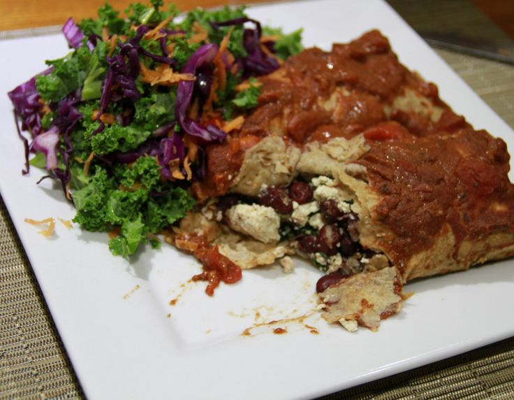 Healthy Baked Enchiladas Recipe. This is an oil free recipe that looks messy but tastes amazing. Perfect for a Mexican fiesta.