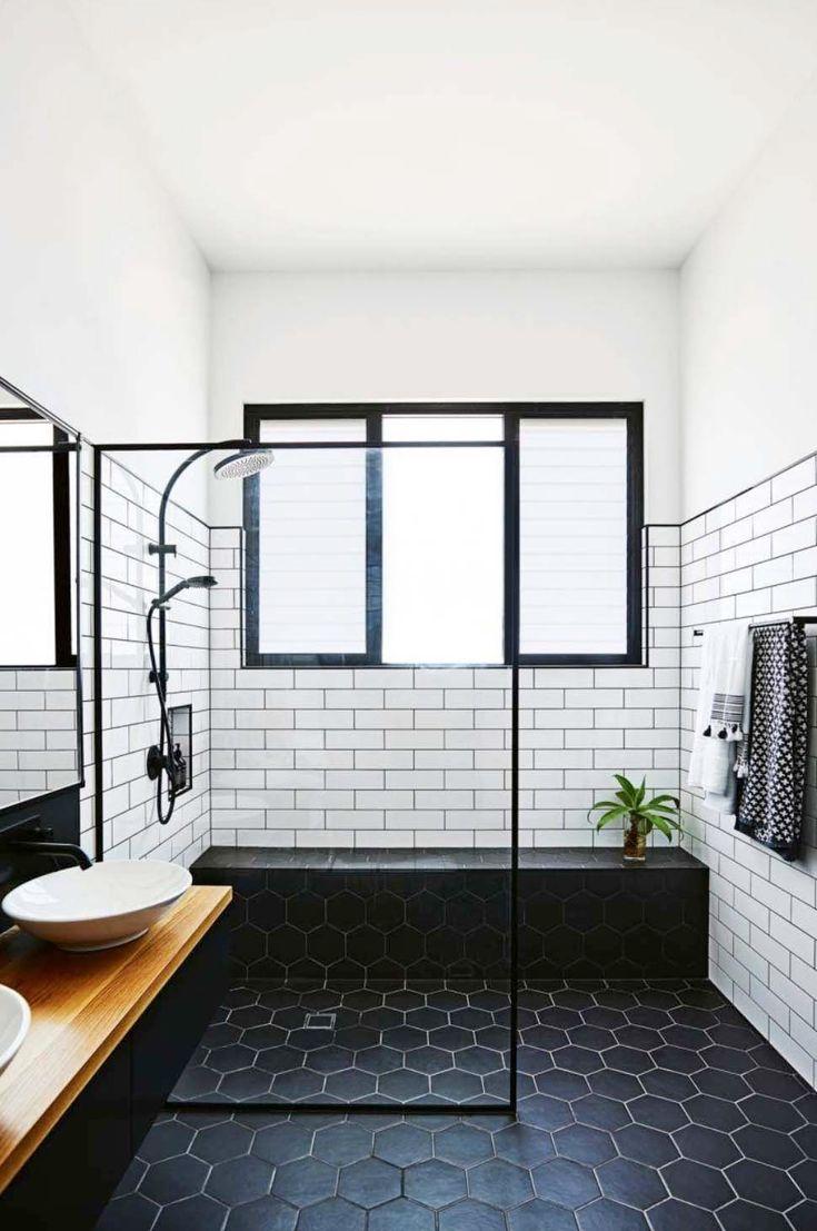 20+ Unglaublich stylische Schwarz Weiß Badezimmerideen zum ...
