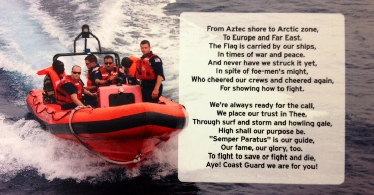U.S. Coast Guard Song. #military #honor #celebration #coastguard