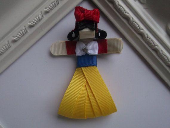 snow white inspired ribbon sculpture hair clip princess snow white hair clip princess snow white