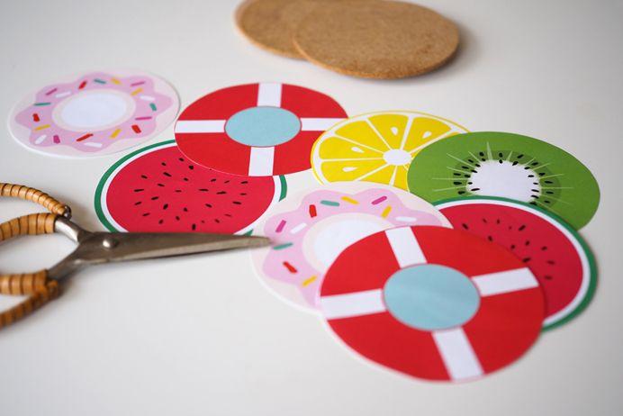 Idées et DIY summer party, dessous de verre fruit - Sweet Party Day