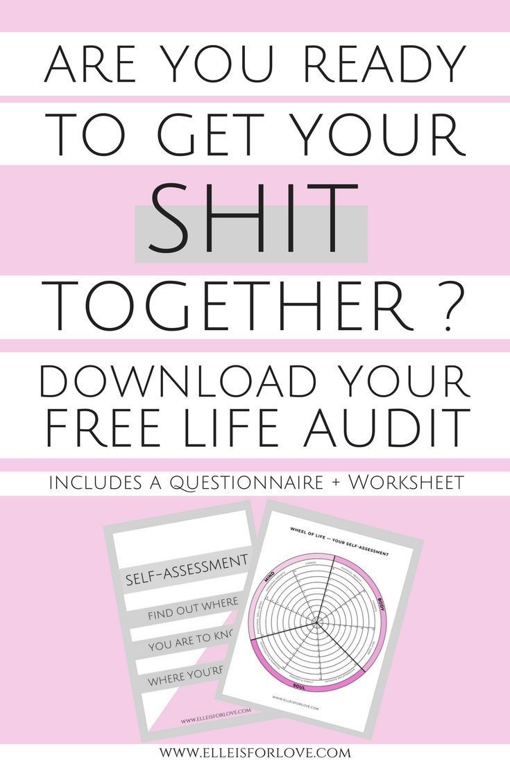 How to do a Life audit to Get your Shit Together   Personal