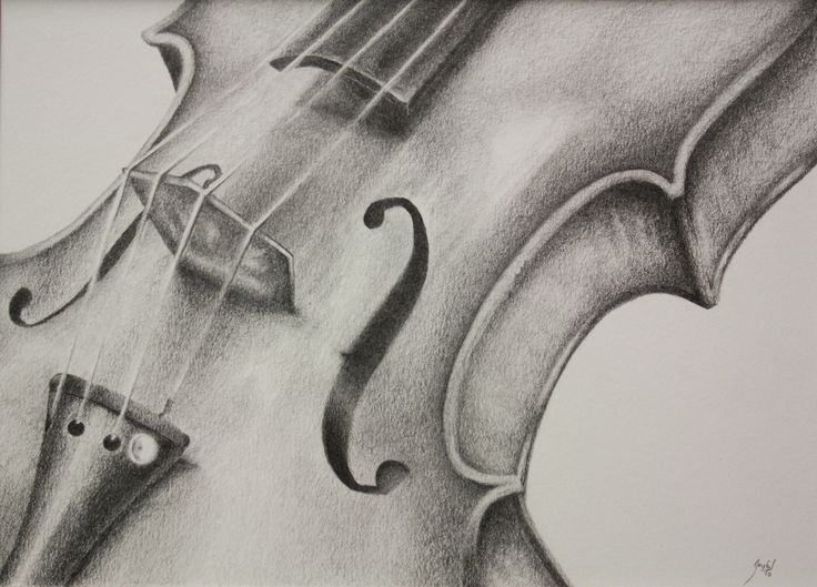 "11x14  Graphite Smooth Tone Still Life: drawing. ""Stringed Melody"""