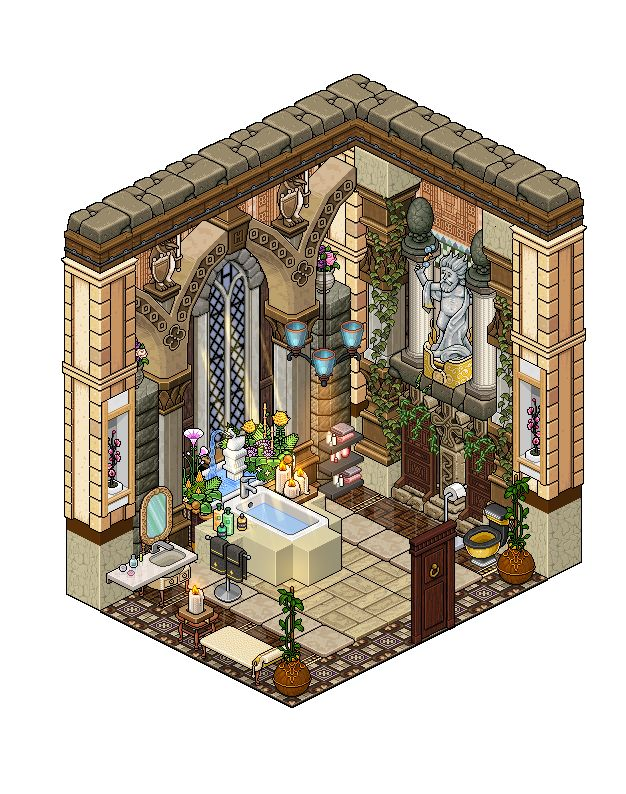 20 best images about habbo rooms on pinterest for Bath house shop