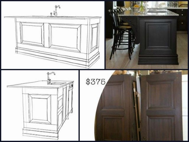 The End Panels On This Kitchen Island Are The Panels On 2