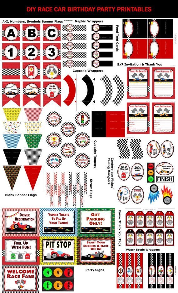 photo regarding Printable Racing Cars identified as Race Car or truck Birthday Bash, Race Car or truck Bash Printables, Racing