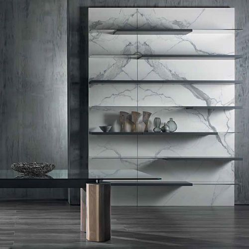 Wall-mounted shelf / contemporary / marble / methacrylate N.C. LANDSCAPE by Massimo Castagna Acerbis International