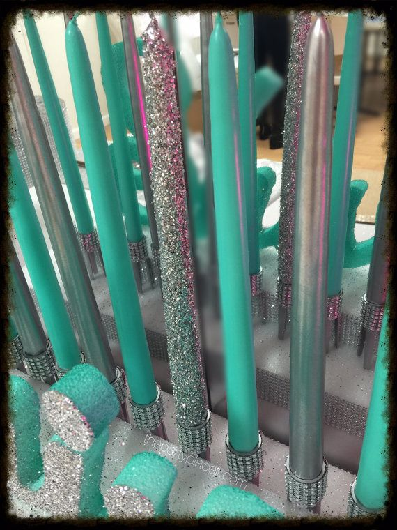 Metallic & Glitter Taper Candles for Candle by ThePartyPlaceLI