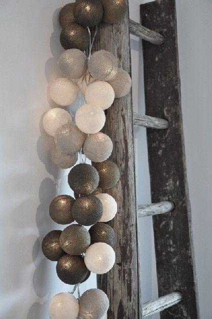 Lichtslingers van Cotton Ball Lights - Inspiratie