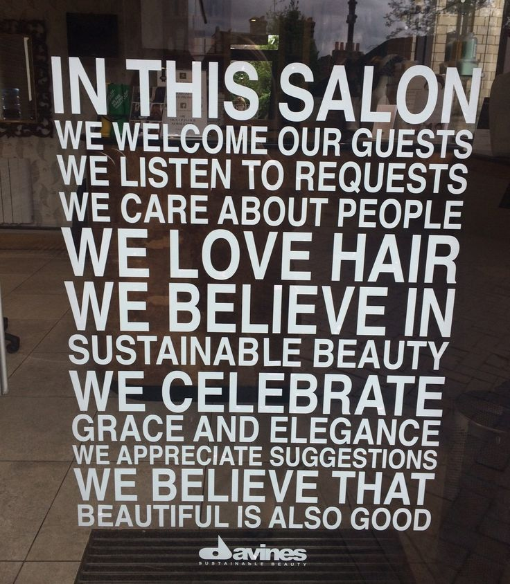 In this Salon we love hair!